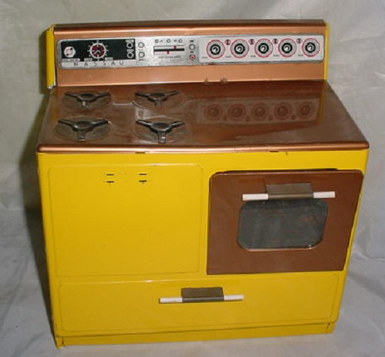 Vintage Toy Kitchen Set: Vintage Antique Tin Toy Nassau Kitchen Set Range Stove